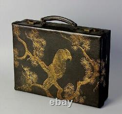 Very rare small printed leather Suitcase 1890-1912 W98