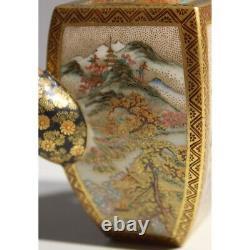 Vintage 20th Japan Rare Original Golden Satsuma Porcelain teapot Marked