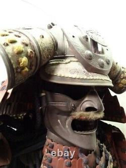 Vintage Japanese Samurai Armor Genuine Kabuto Yoroi Rare Life Size Japan