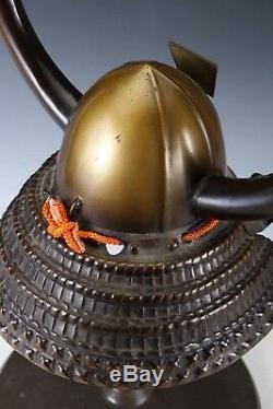 Vintage Japanese Samurai Helmet -Kansuke's helmet- with a mask Rare
