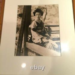 Vintage Portrait Of Japanese Geisha Rare Original Silver-gelatin Print Framed