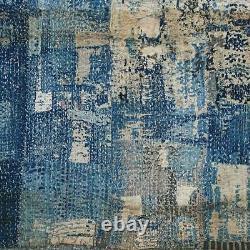 Vintage Sashiko BORO Cloth Indigo Blue Japanese Folk Textile Meiji-era Rug Rare