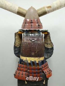Vintage Yoroi Kabuto JP Samurai Armor Menpo Kote Bamboo Maedate Rare