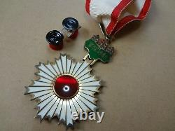 WWII WW2 JAPANESE ARMY ORDER RISING SUN 3TH MEDAL ANTIQUE RARE badge 1A2