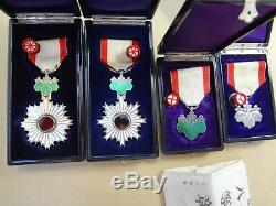 WWII WW2 JAPANESE ARMY ORDER RISING SUN 8th 7th 6th 5th MEDAL ANTIQUE RARE badge