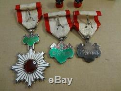 WWII WW2 JAPANESE ARMY ORDER RISING SUN 8th 7th 6th MEDAL ANTIQUE RARE badge