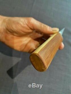 YoshinaoTamahagane KiridashiAntique Japanese Wood Carving KnifeVRY RARE